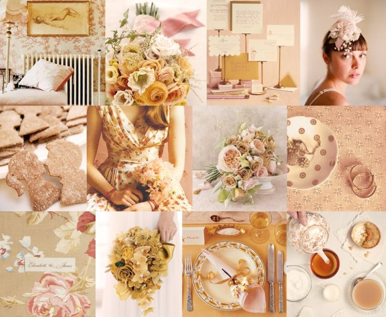 ideas-for-a-pink-autumn-wedding-color-palette-sepia-tones