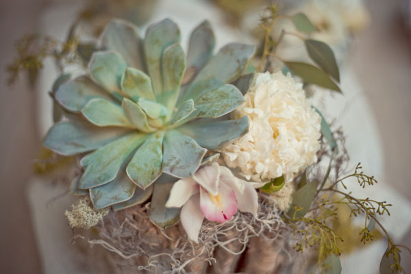 Our colors were copper sage rose and ivory Early winter wedding in